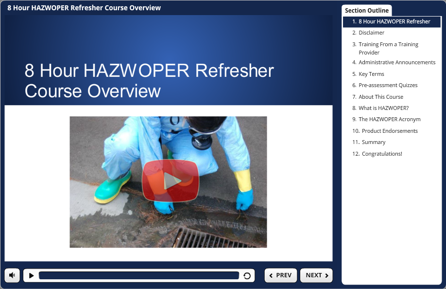8 hr hazwoper demo