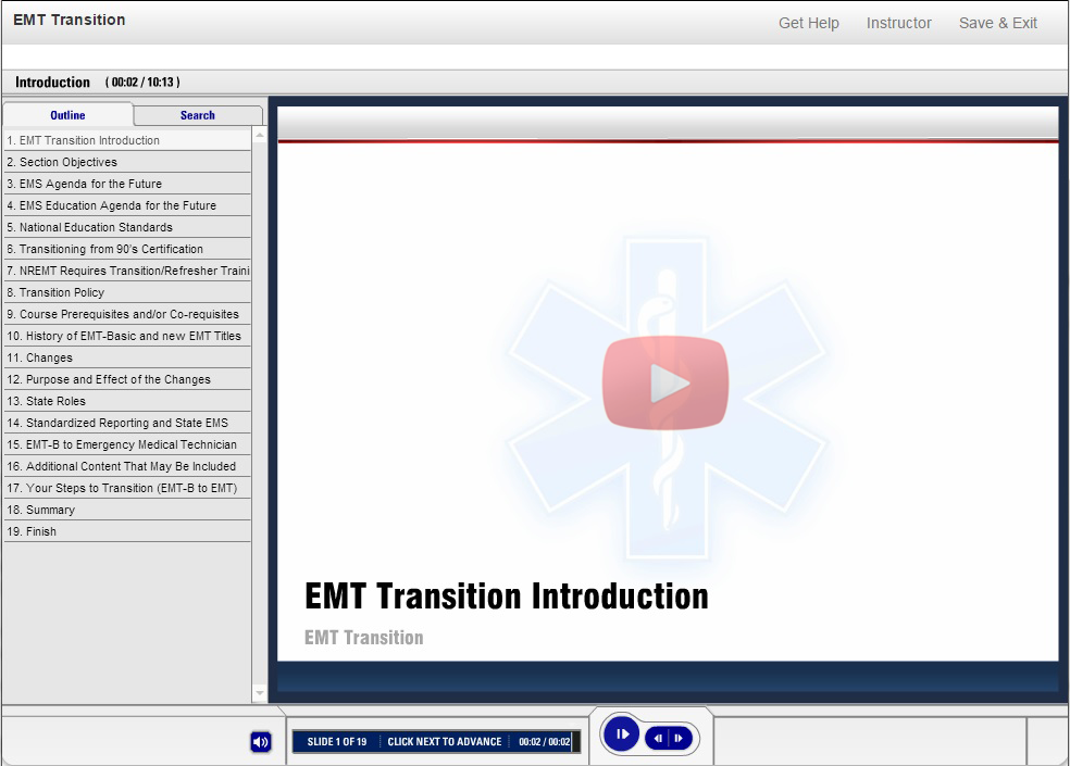 EMT Transition Course Demo