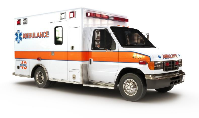 EMT or paramedic ambulance