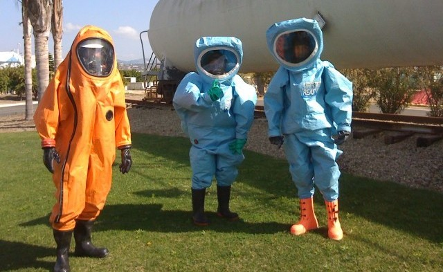 HAZWOPER team wearing personal protective equipment PPE