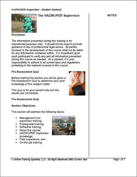 hazwoper supervisor training - $54 | osha 8 hour hazwoper hazmatstudent