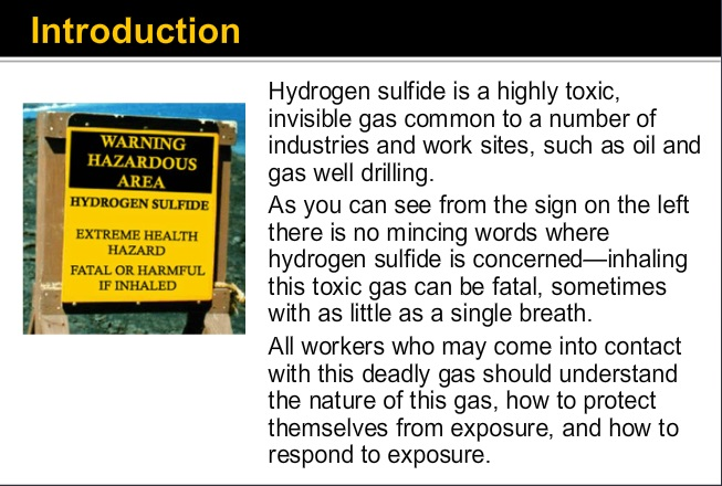 h2s awareness training overview sample course slide