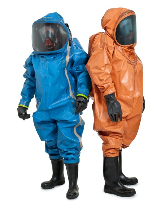 Hazwoper workers wearing PPE