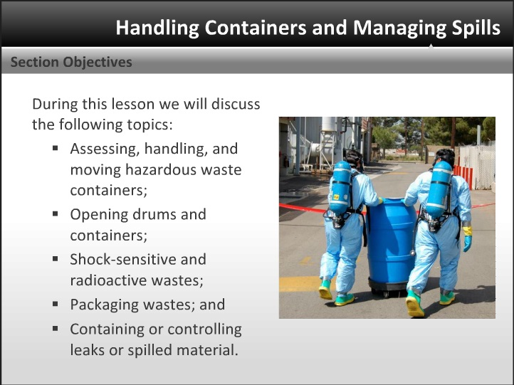 Hazardous Material Containment Training Screenshot