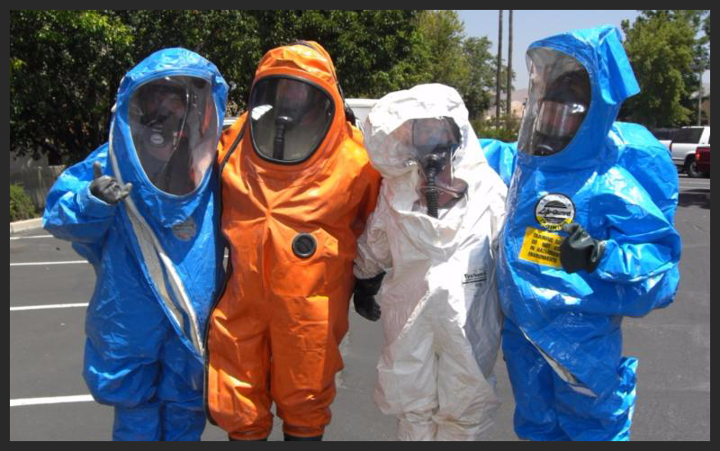 Hazwoper workers in PPE