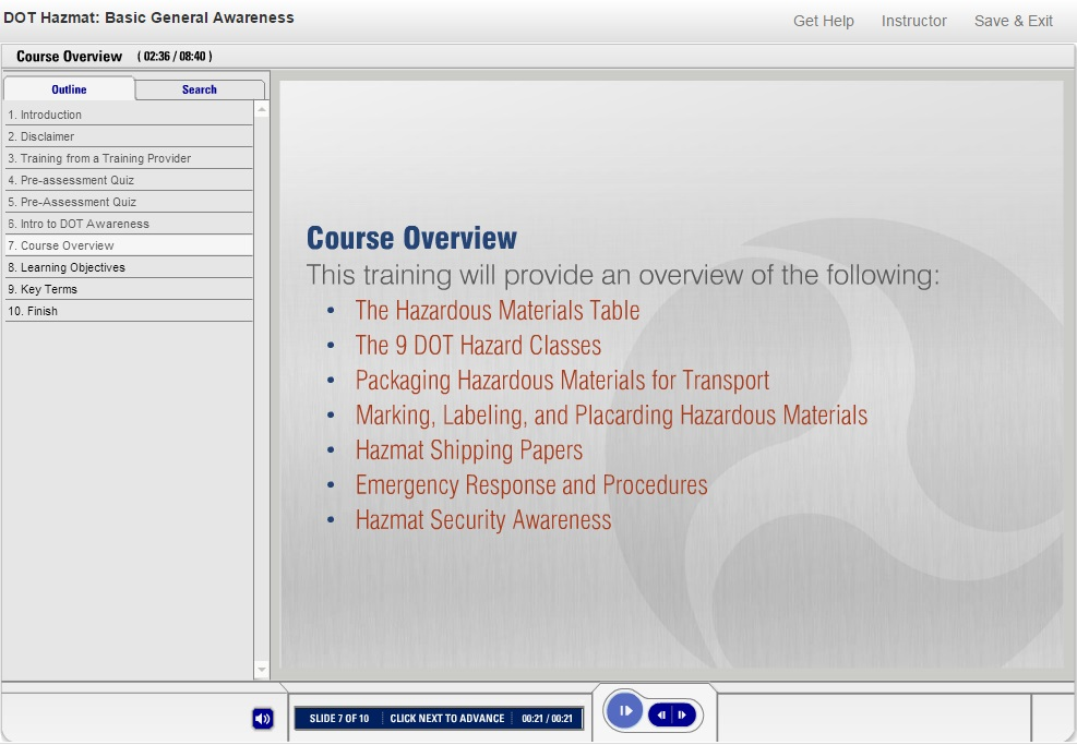 DOT HAZMAT Training Video