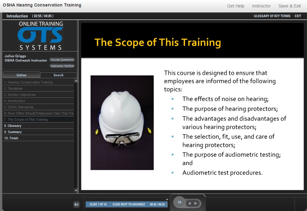 Hearing conservation training video