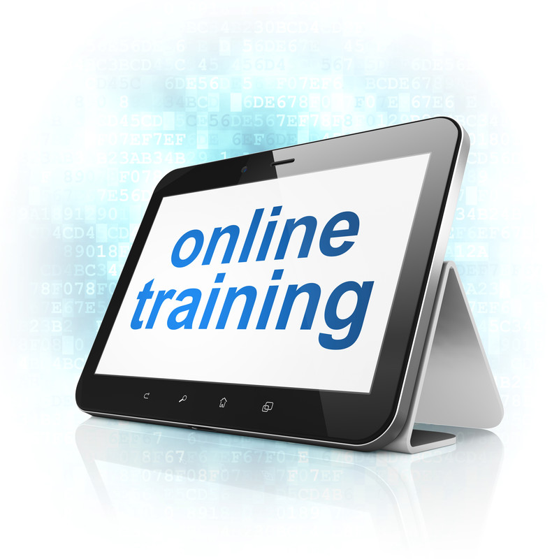 mobile device with words mobile training