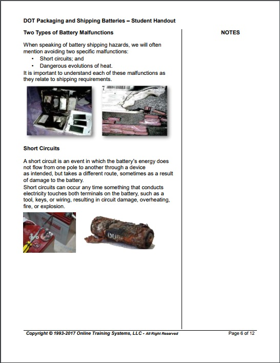 dot hazmat shipping batteries manual