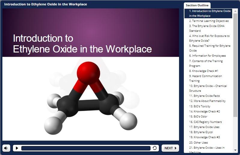 ethylene oxide training demo