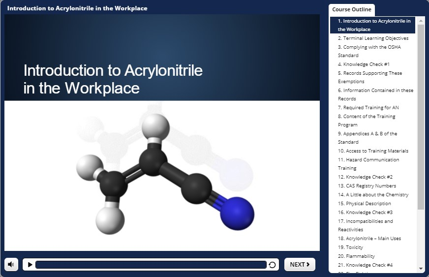 acrylonitrile awareness training demo