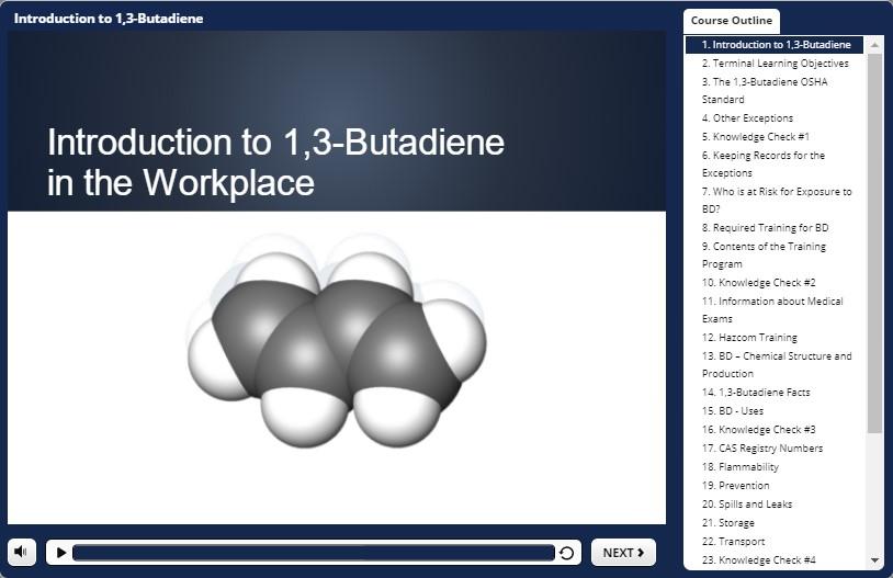 butadiene training demo